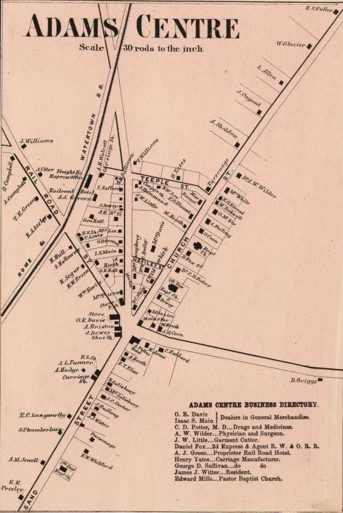 1864 Map of Adams Centre New York