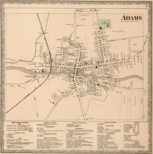 1864 Map of Adams Village New York