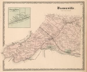 1864 Map of Brownville New York