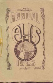 1923 Adams High School Senior Annual