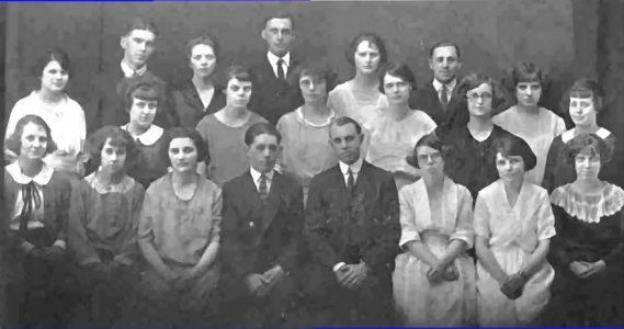 Adams High School Senior Class Photo 1923