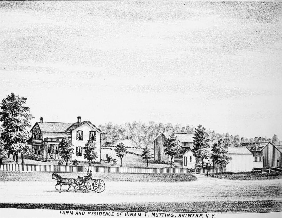 Farm and Residence of Hiram T Nutting
