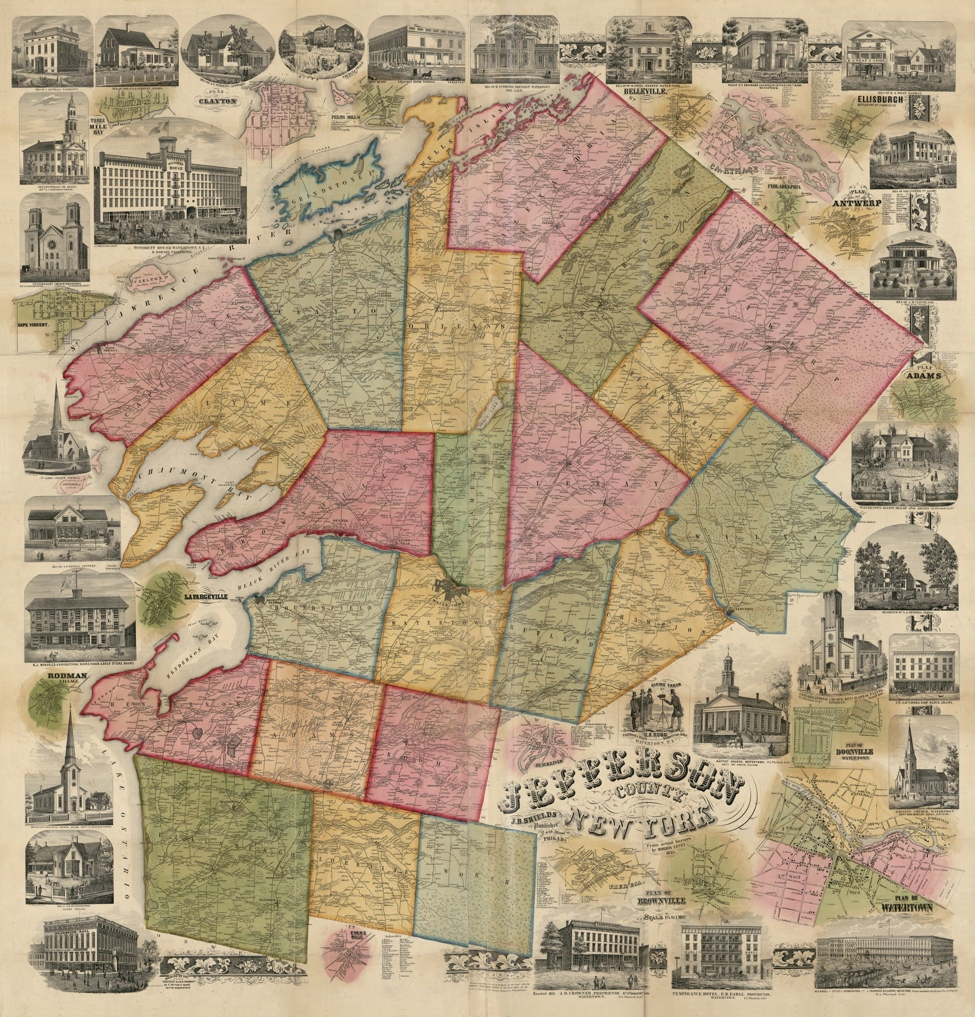 Jefferson County Map 1855