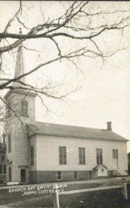Historic Photo of the Seventh Day Baptist Church Adams Centre NY