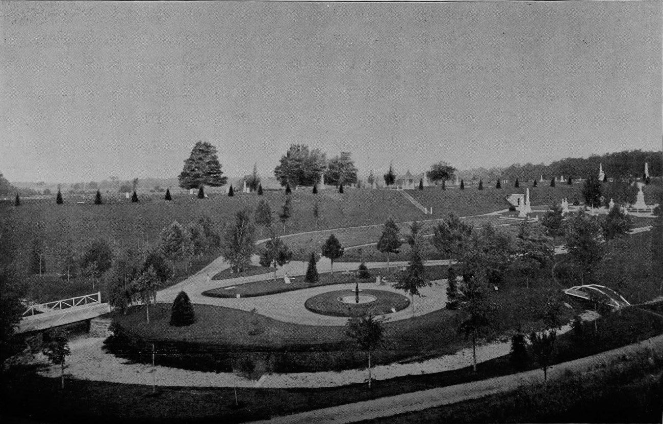 View of Elmwood Cemetery, Adams