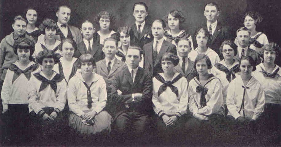 1924 Junior Class of Adams High School