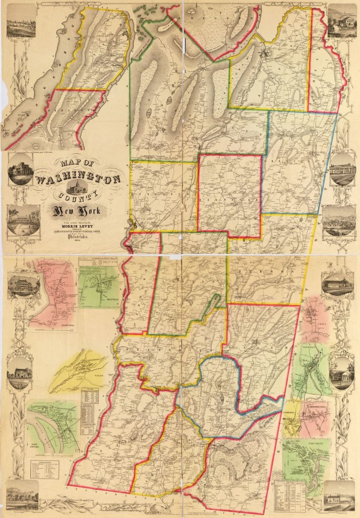 1854 Map of Washington County NY