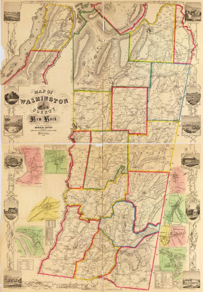 1854 Map of Washington County NY