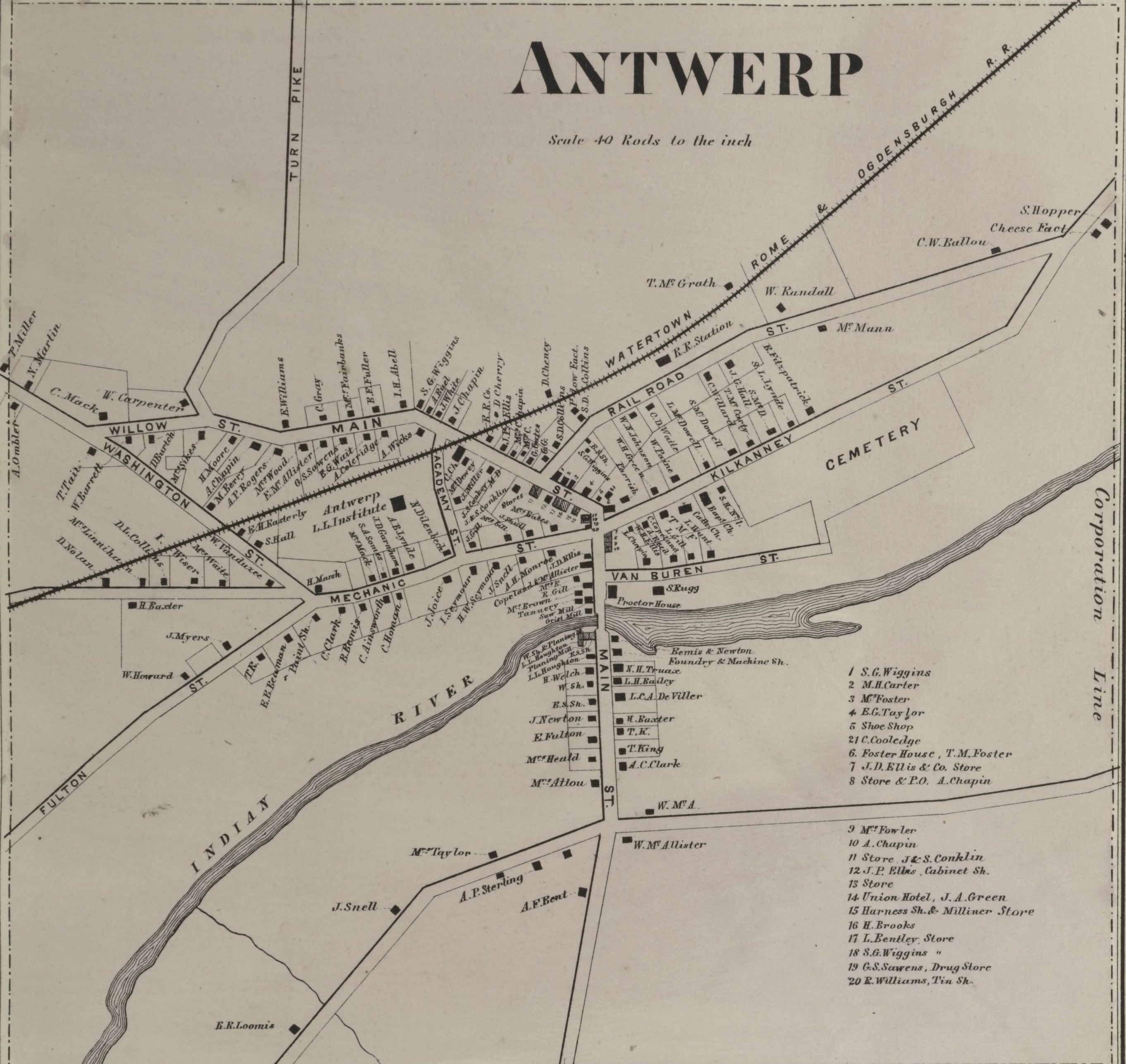 1864 Map of Antwerp, New York