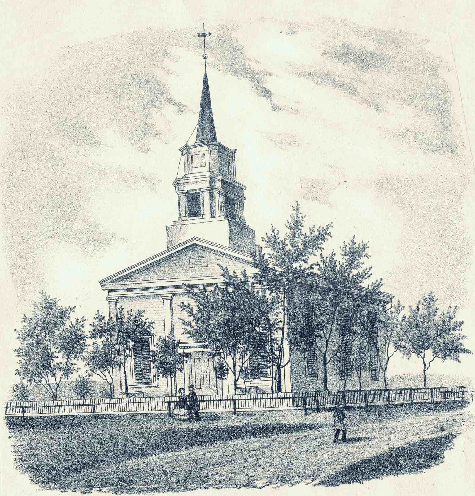 Sketch of the First Presbyterian Church of Alexandria in 1849
