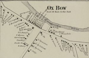 1864 Map of Ox Bow