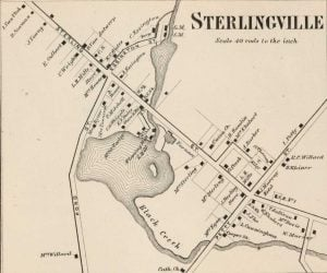 1864 Map of Sterlingville New York