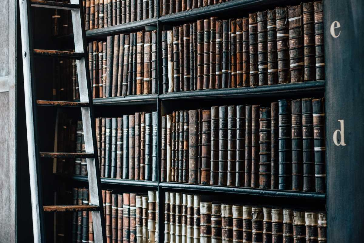 Old Books on Shelf - Library