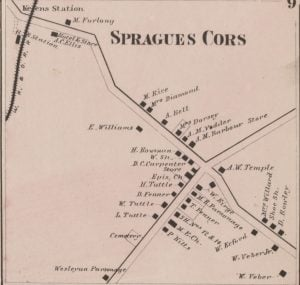 1864 Map of Spragues Corners