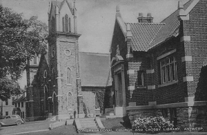 Congregational Church and Crosby Library in Antwerp