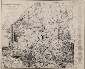 Map of Tracts, Patents and Land Grants, Northern New York