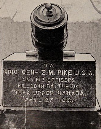 Monument at Sackets Harbor Erected to Brig Gen Pike and his Officers, Killed at The Battle of York