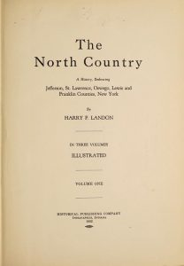 The north country vol 1 title page